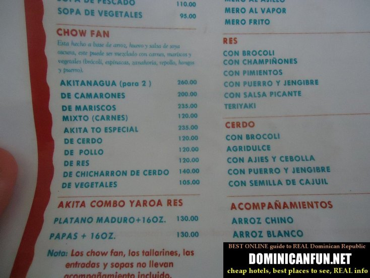 dominican republic cheap restaurant
