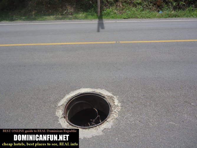roads in dominican republic - pothole