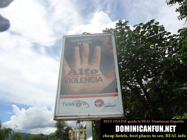 antiviolence poster, Dominican Republic
