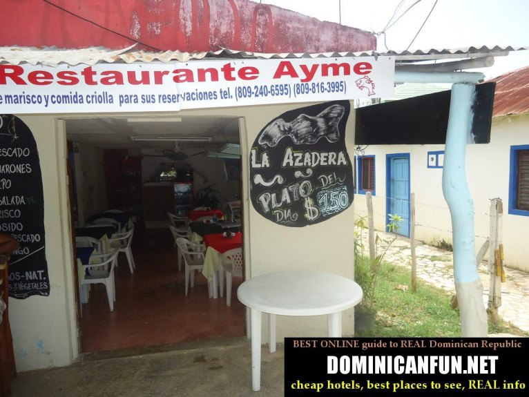 basic restaurant, Dominican Republic