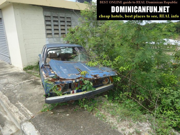 abandoned car - dominican republic