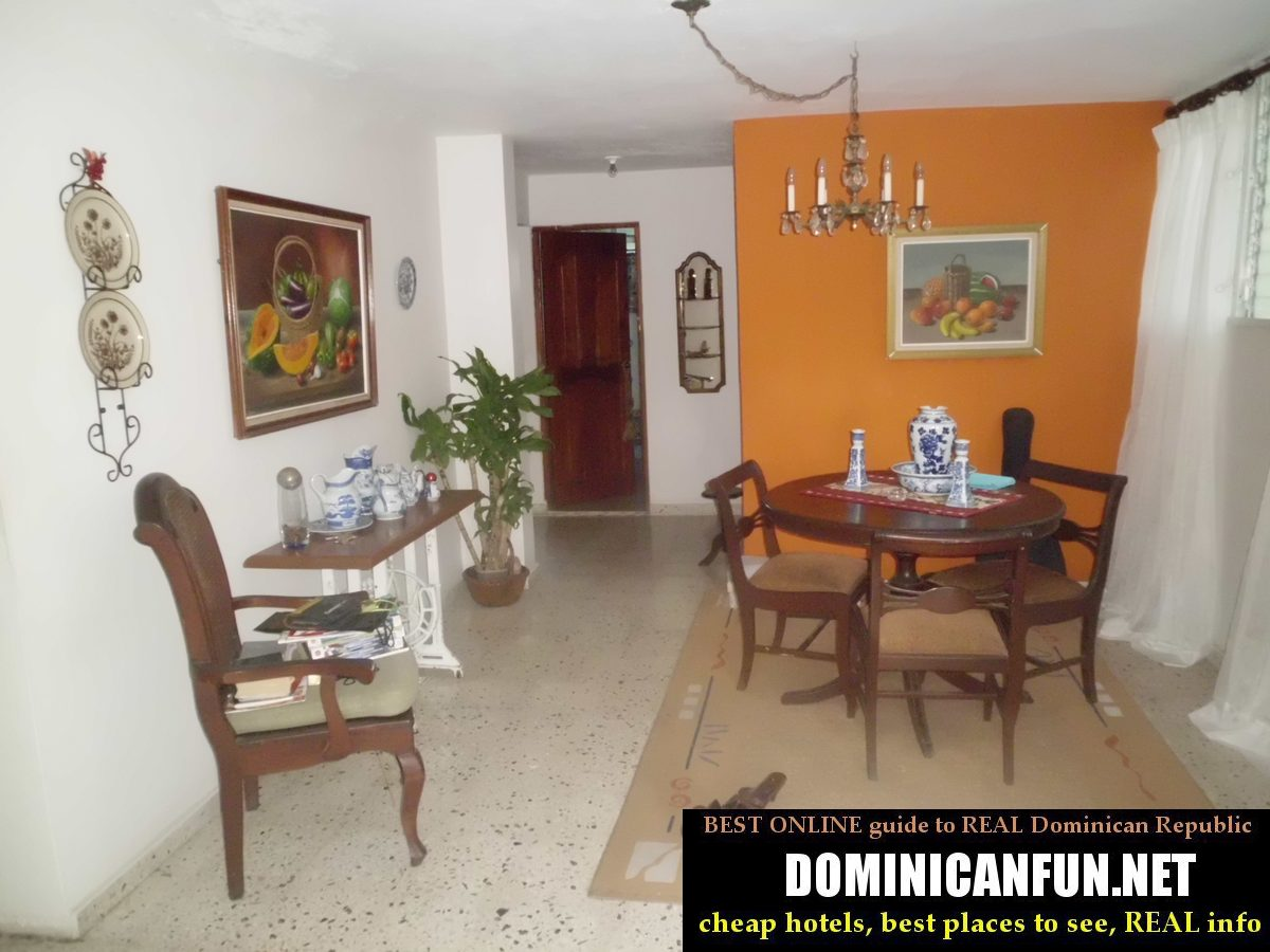 Typical Dominican House And Its Furniture