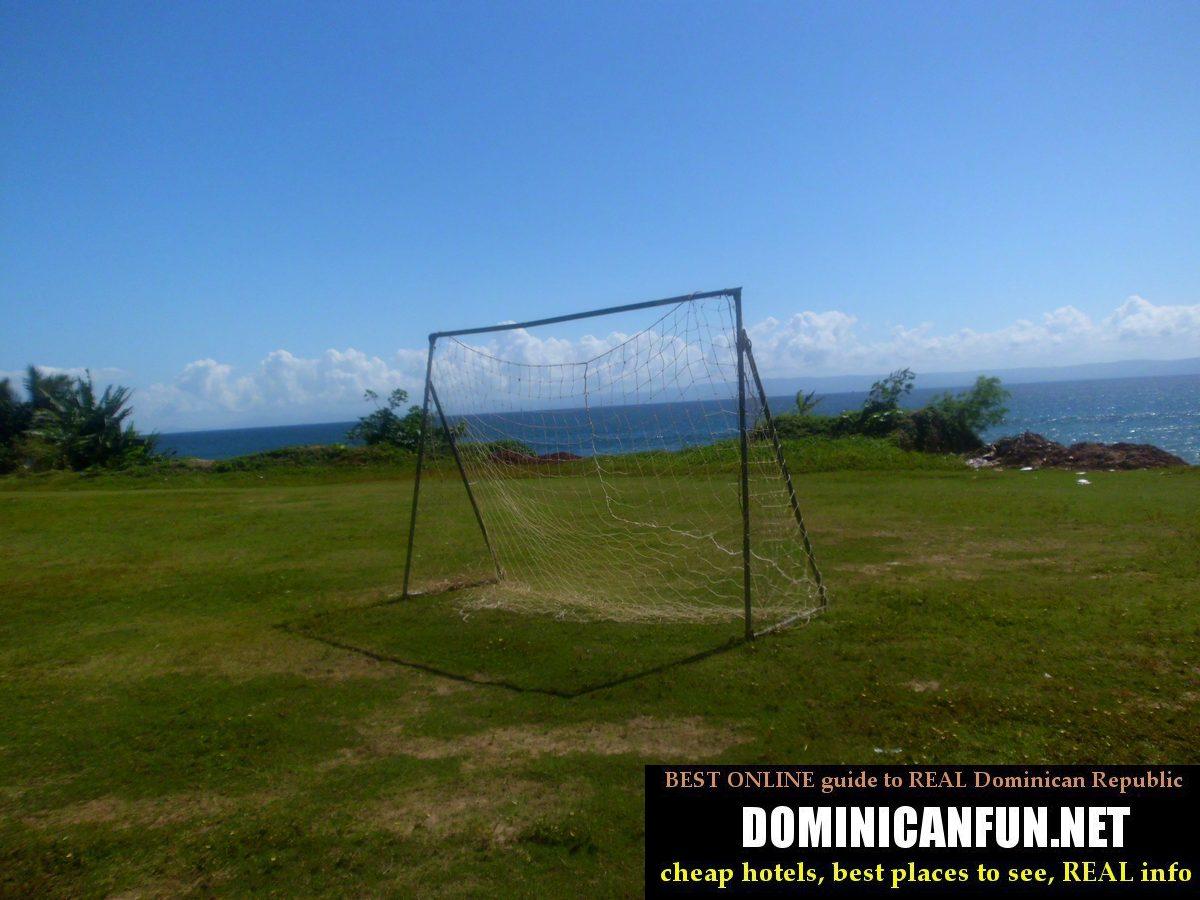 soccer field in DR