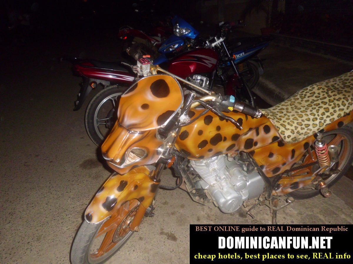 motorbike - tiger, dominican republic