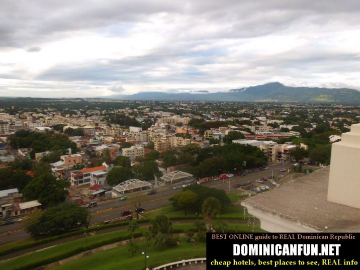 view from the hill in Santiago,,Dominican Republic